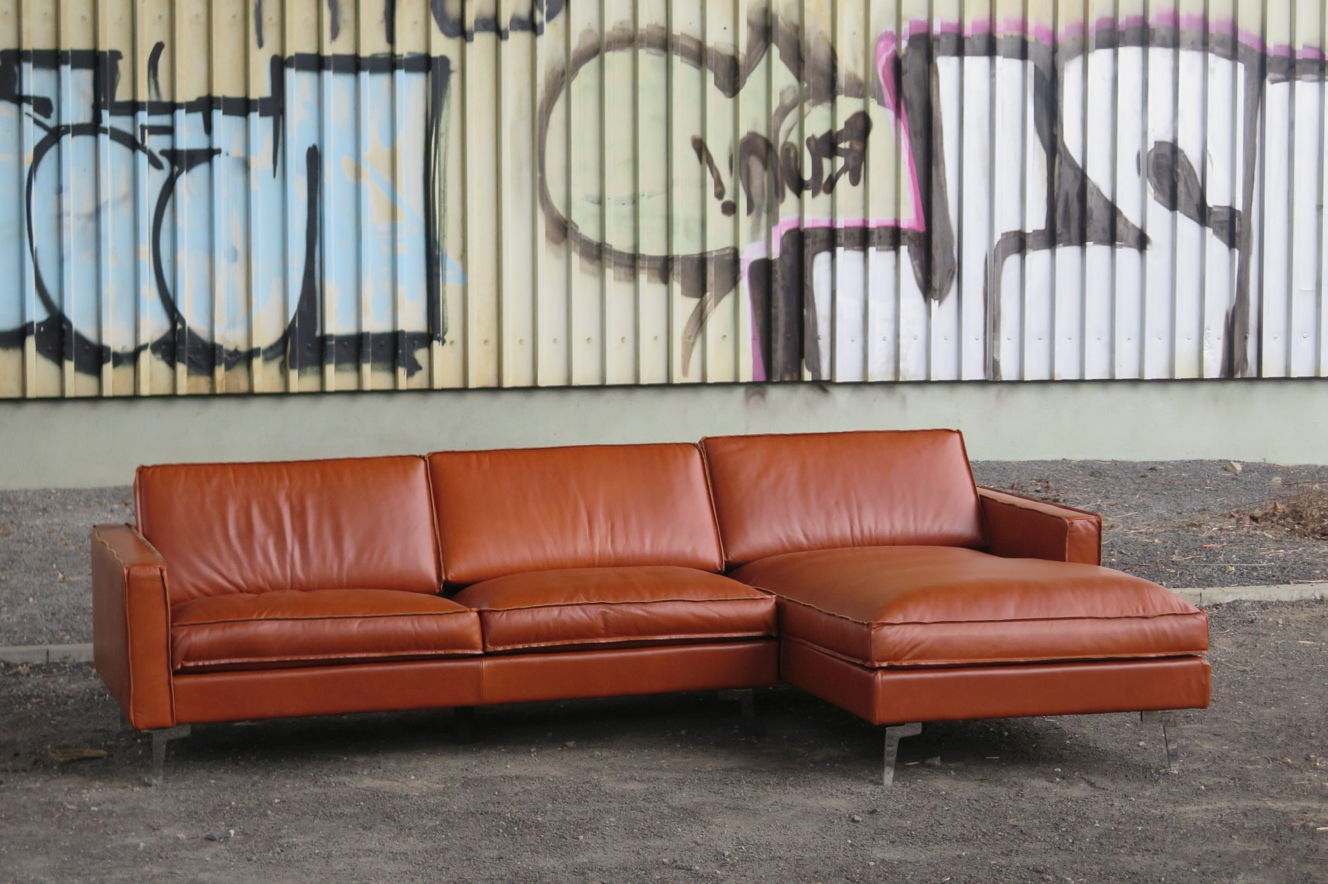 ecksofa echtleder vintage rodeo gaucho cognac rechts. Black Bedroom Furniture Sets. Home Design Ideas