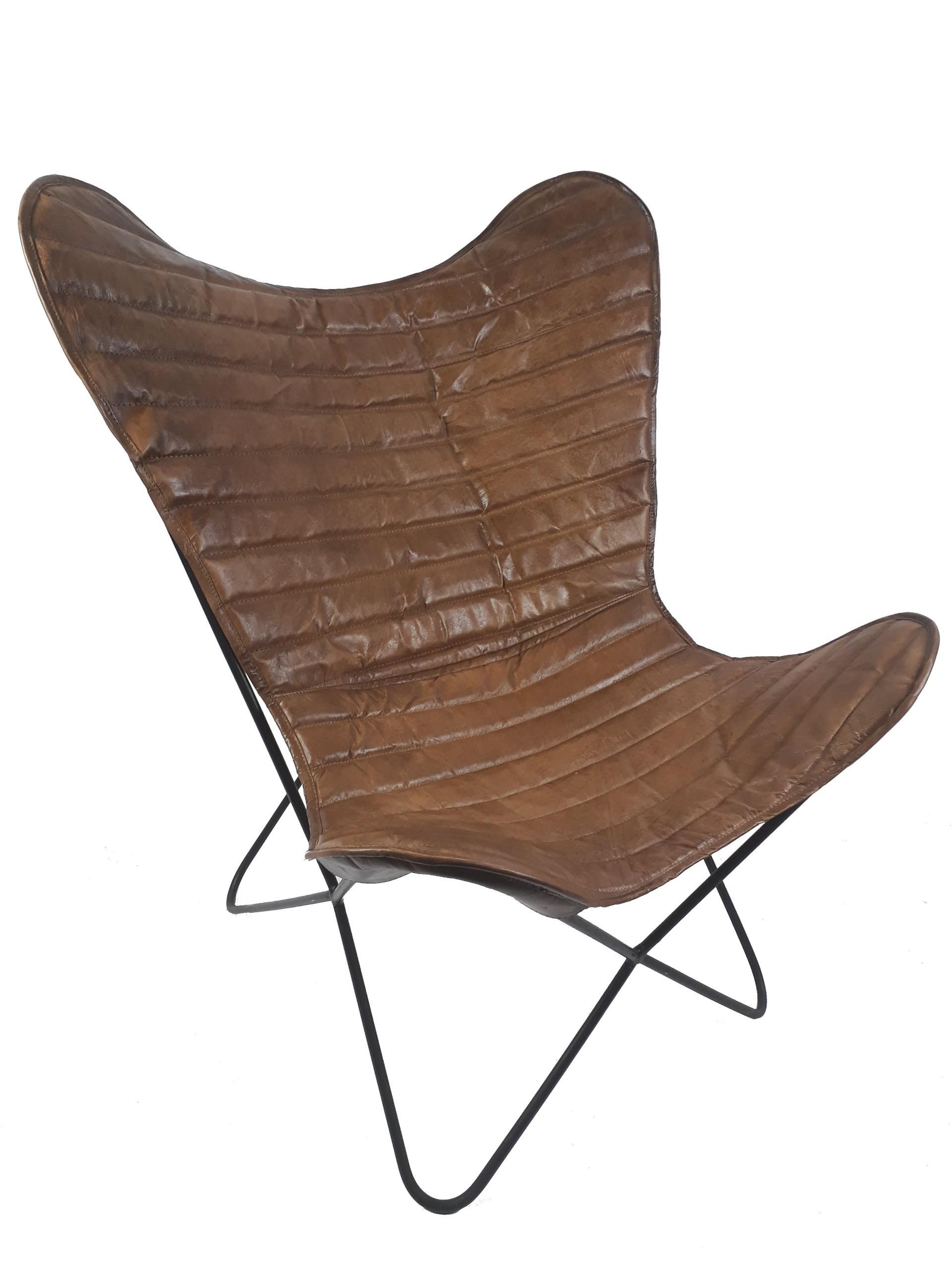 Vintage Sessel Butterfly Eco Leder Loungesessel – Möbel – Stühle