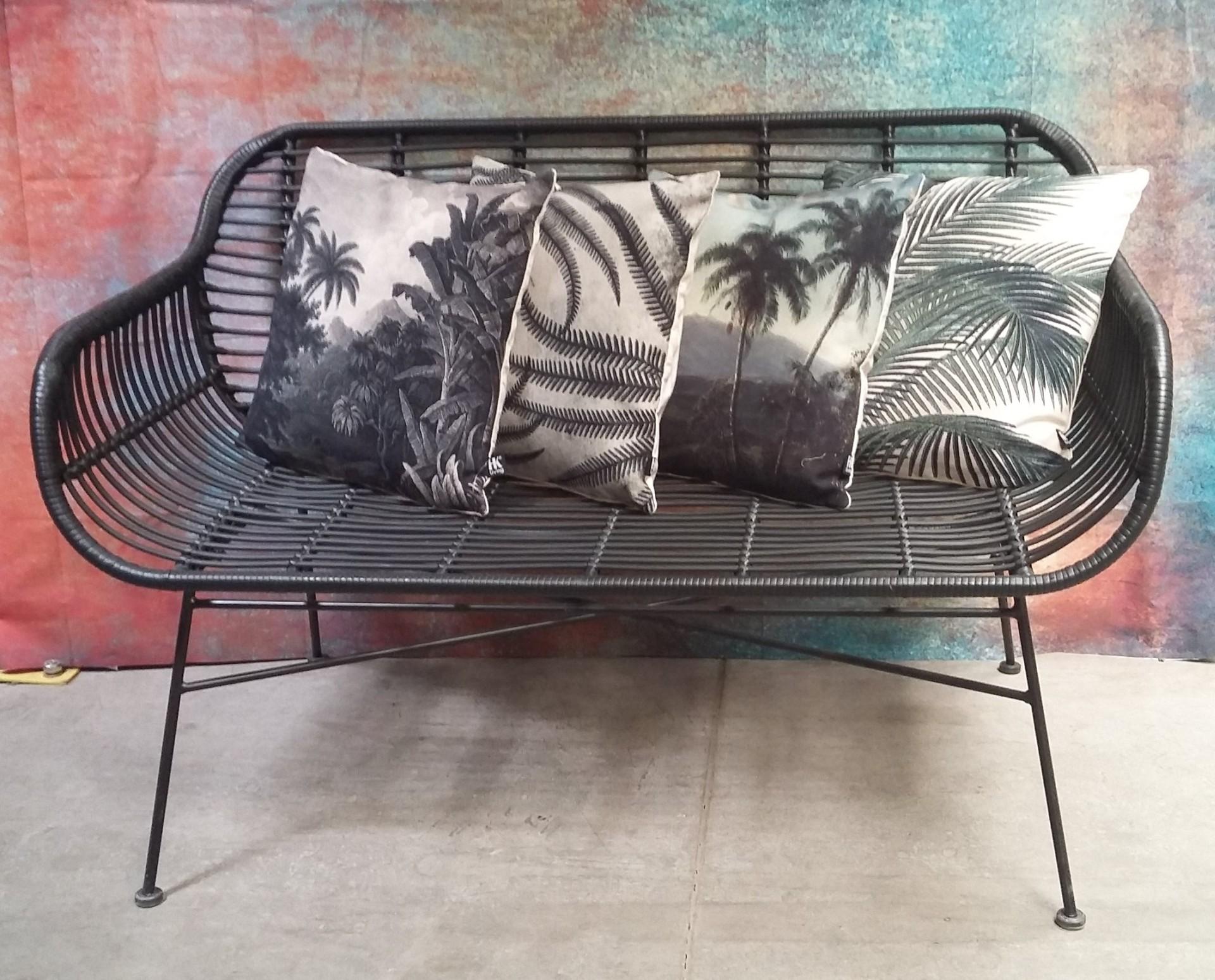 retro sofa acapulco chair rattan outdoor rund schwarz m bel sessel sofas vintagehaus. Black Bedroom Furniture Sets. Home Design Ideas