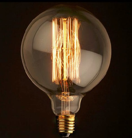 2er set gl hfadenlampe 125er globus 40w squirrel cage. Black Bedroom Furniture Sets. Home Design Ideas