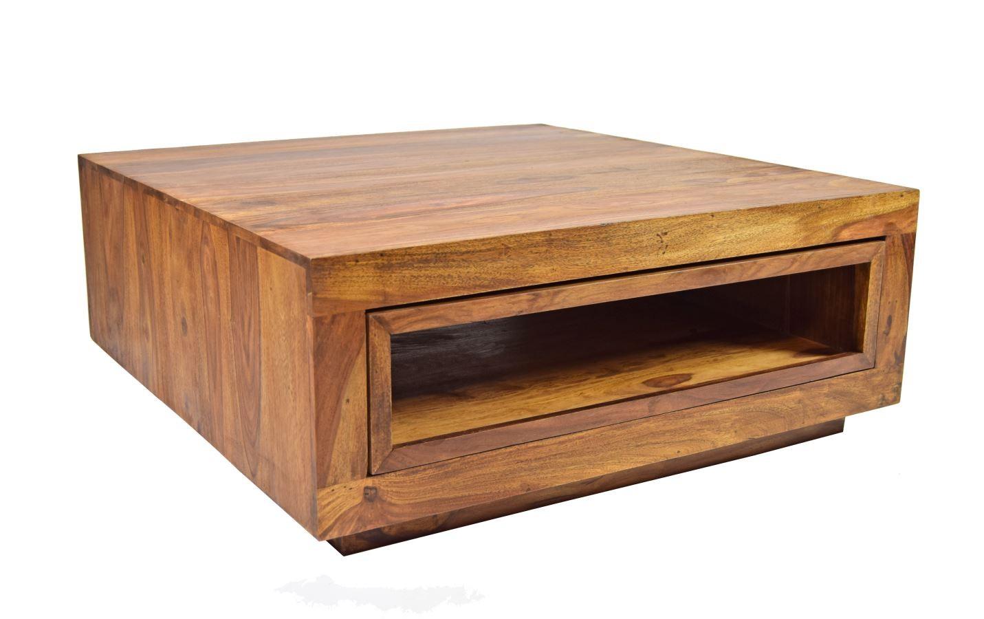 Massivholz couchtisch authentic block ausziehbar Рm̦bel ...