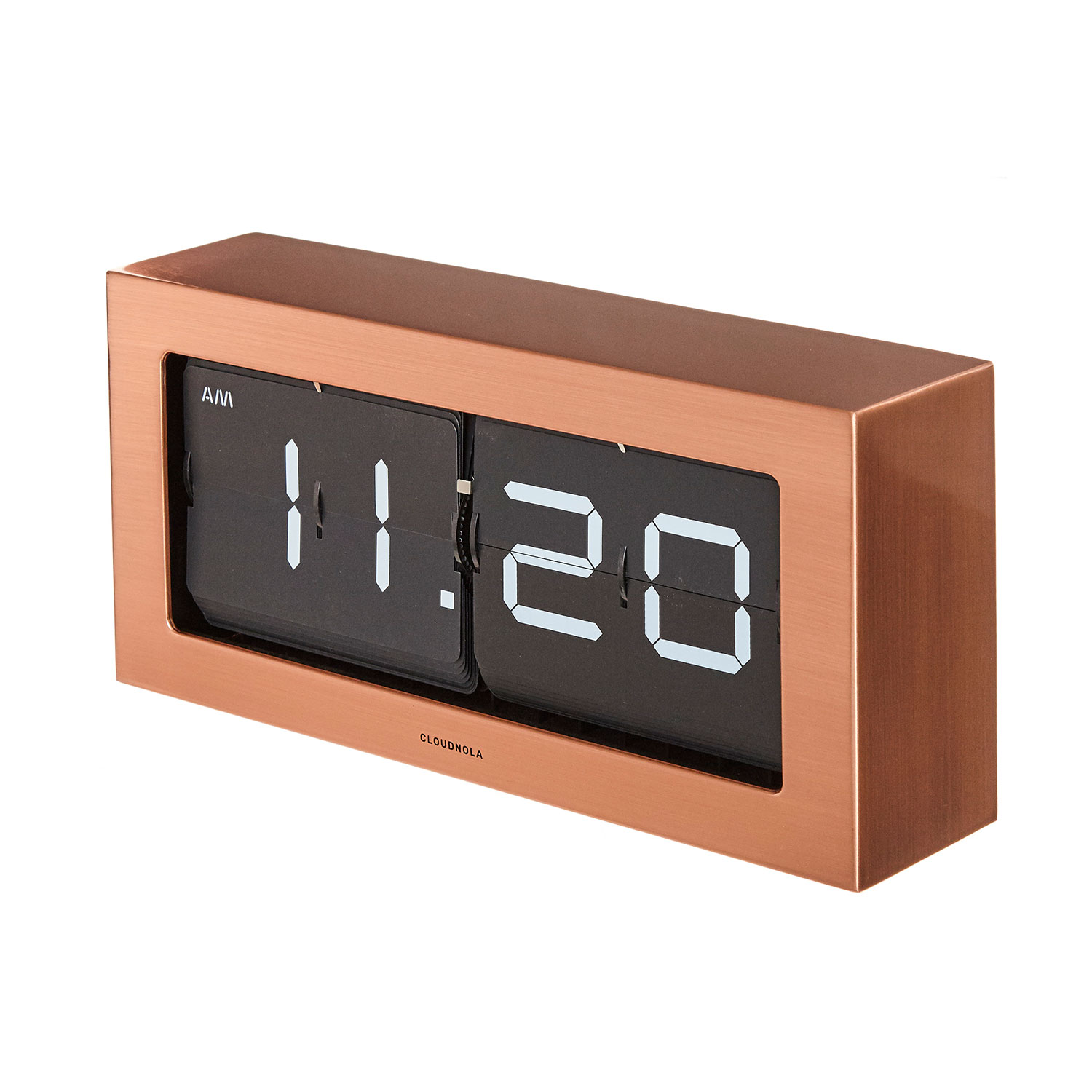 tisch oder wanduhr boss flip kupfer klappzahlenuhr flipclock wohnaccessoires uhren. Black Bedroom Furniture Sets. Home Design Ideas