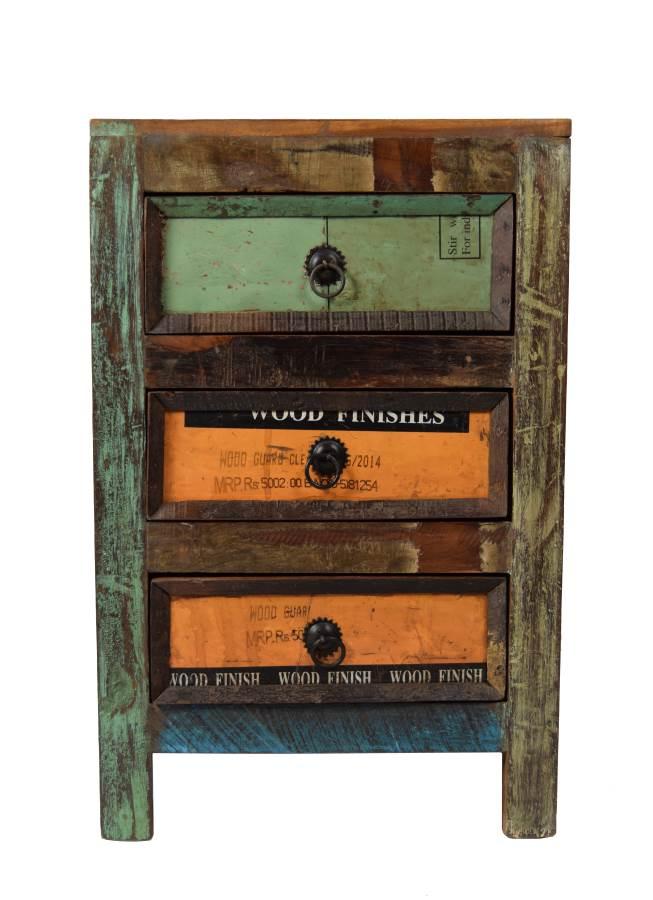 Vintage Nachttisch Underground recyceltes Holz – Möbel – Sideboards ...