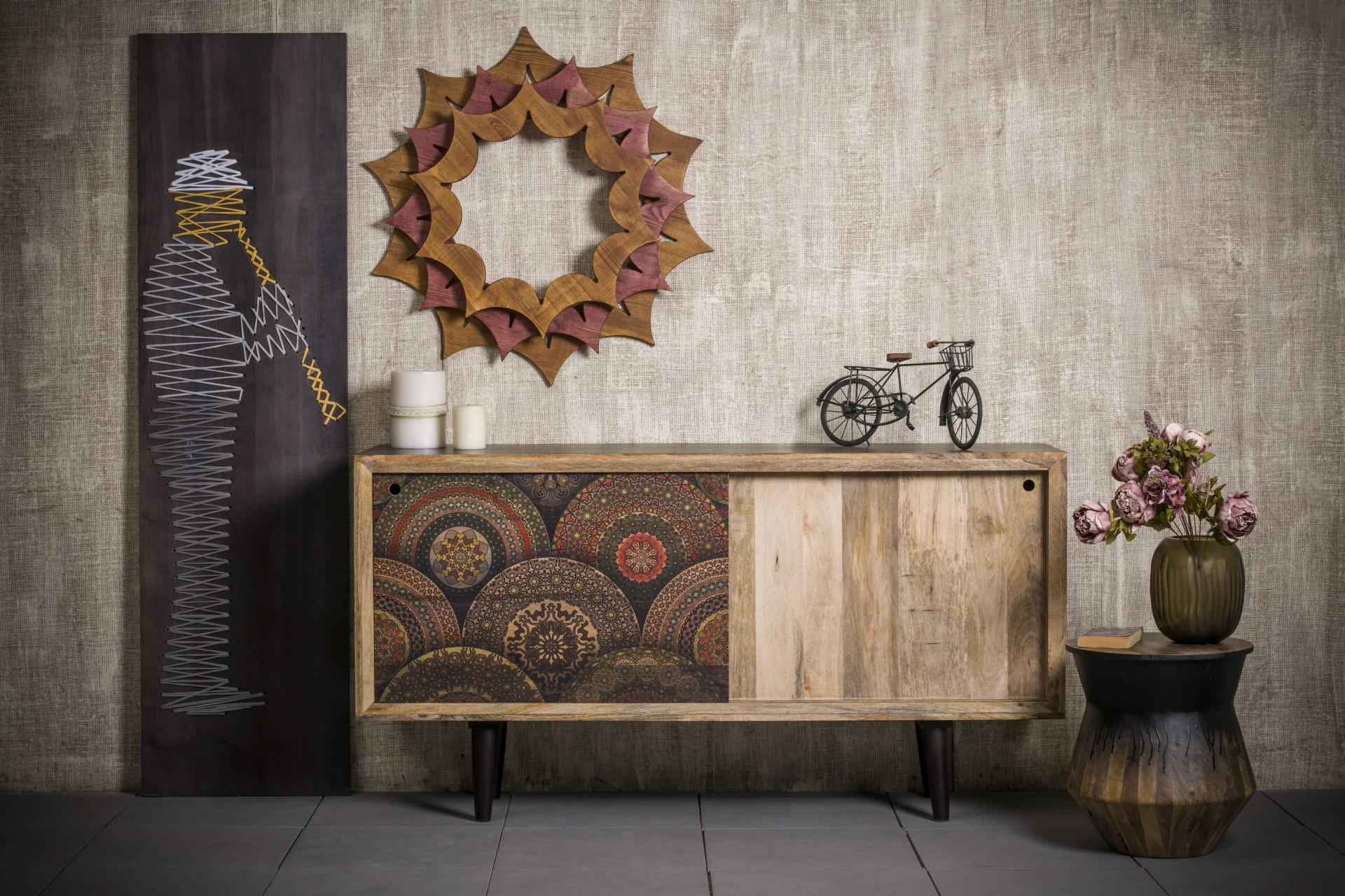 sideboard vintage mangoholz massivholz ethno circles design m bel sideboards vintagehaus. Black Bedroom Furniture Sets. Home Design Ideas