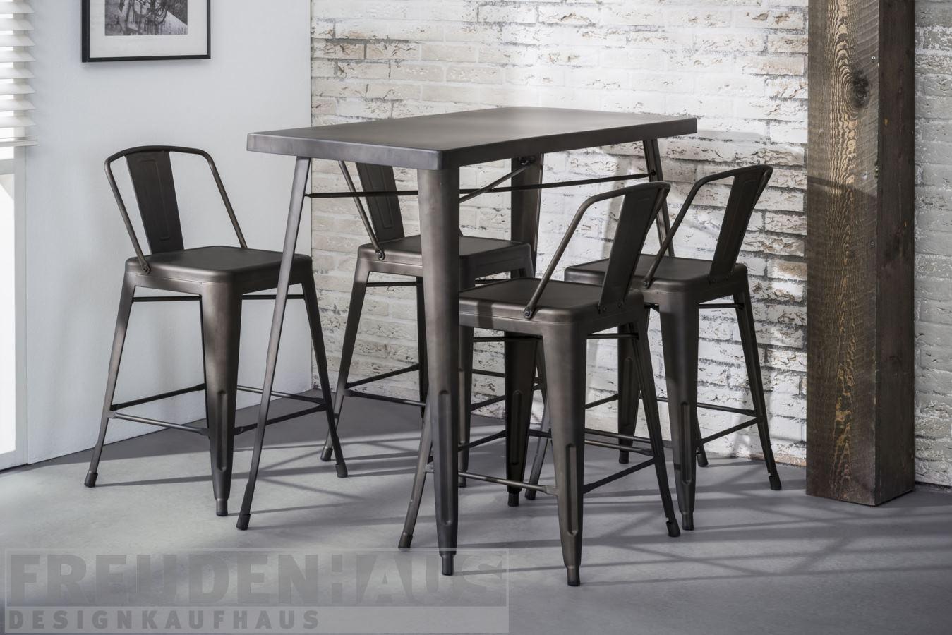 stehtisch bistro metall industrial bartisch m bel esstische vintagehaus. Black Bedroom Furniture Sets. Home Design Ideas