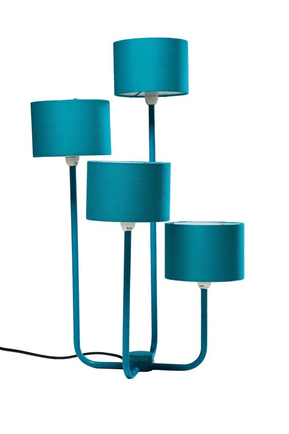 kare tischlampe foursome turquoise wohnaccessoires. Black Bedroom Furniture Sets. Home Design Ideas