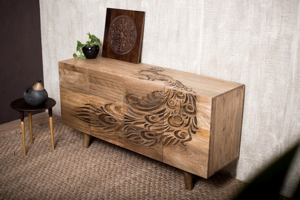 sideboard vintage mangoholz massivholz peacock design m bel sideboards vintagehaus. Black Bedroom Furniture Sets. Home Design Ideas