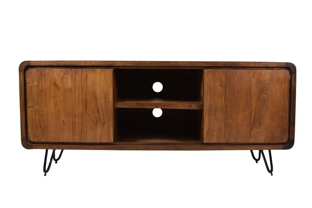 retro sideboard tv board authentic easy living massivholz 140 haarnadelbeine m bel. Black Bedroom Furniture Sets. Home Design Ideas