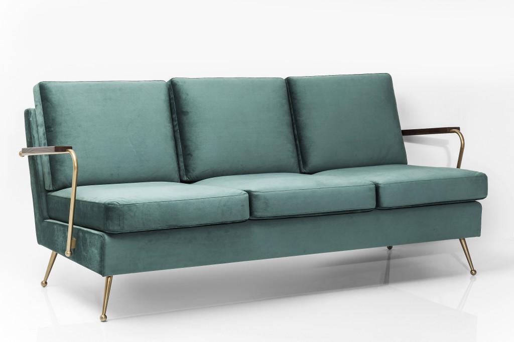 retro sofa gamble 3 sitzer mid century m bel sessel. Black Bedroom Furniture Sets. Home Design Ideas