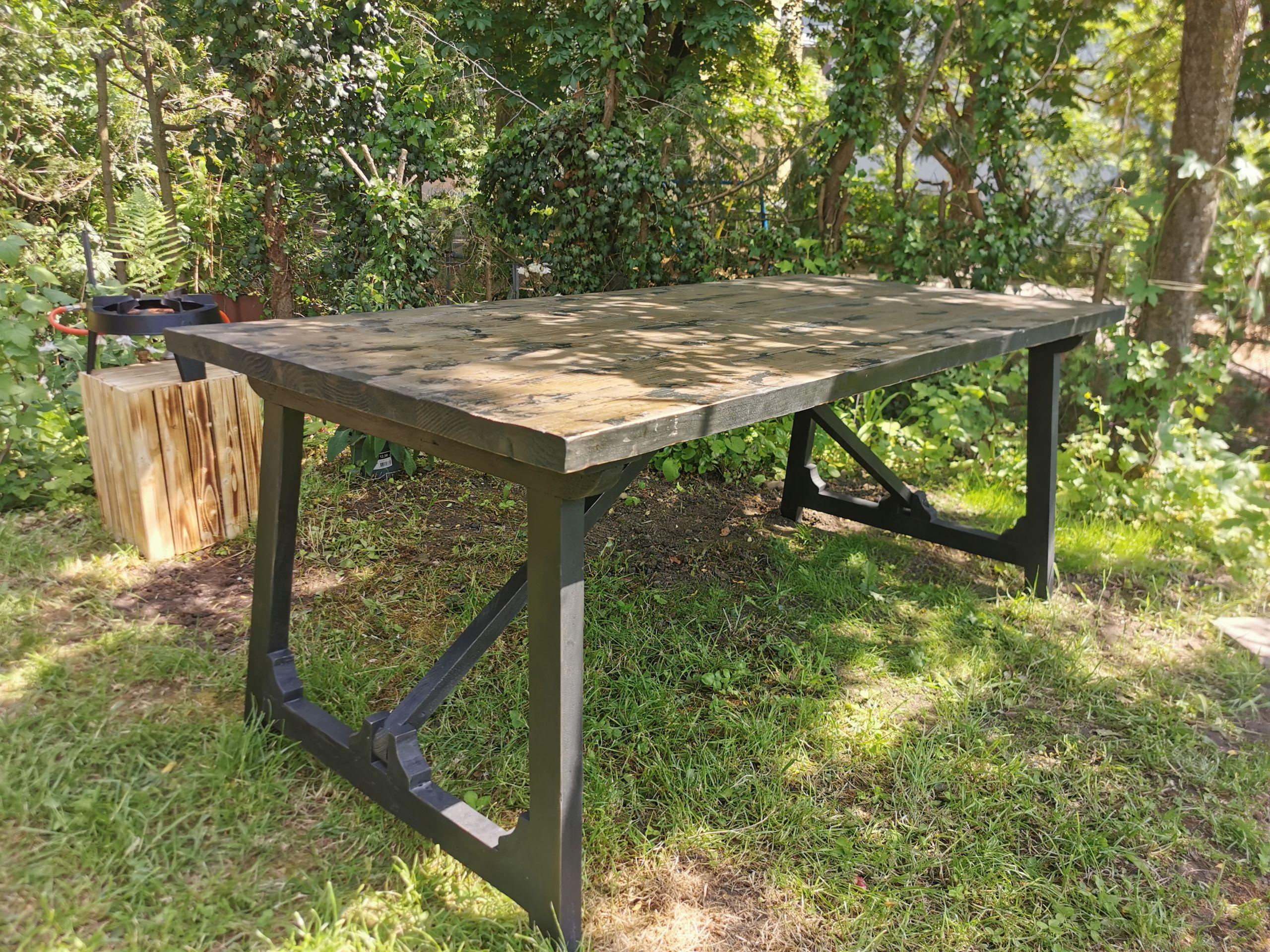 Esstisch Massivholz Vintage Craft in 10 und 10 cm