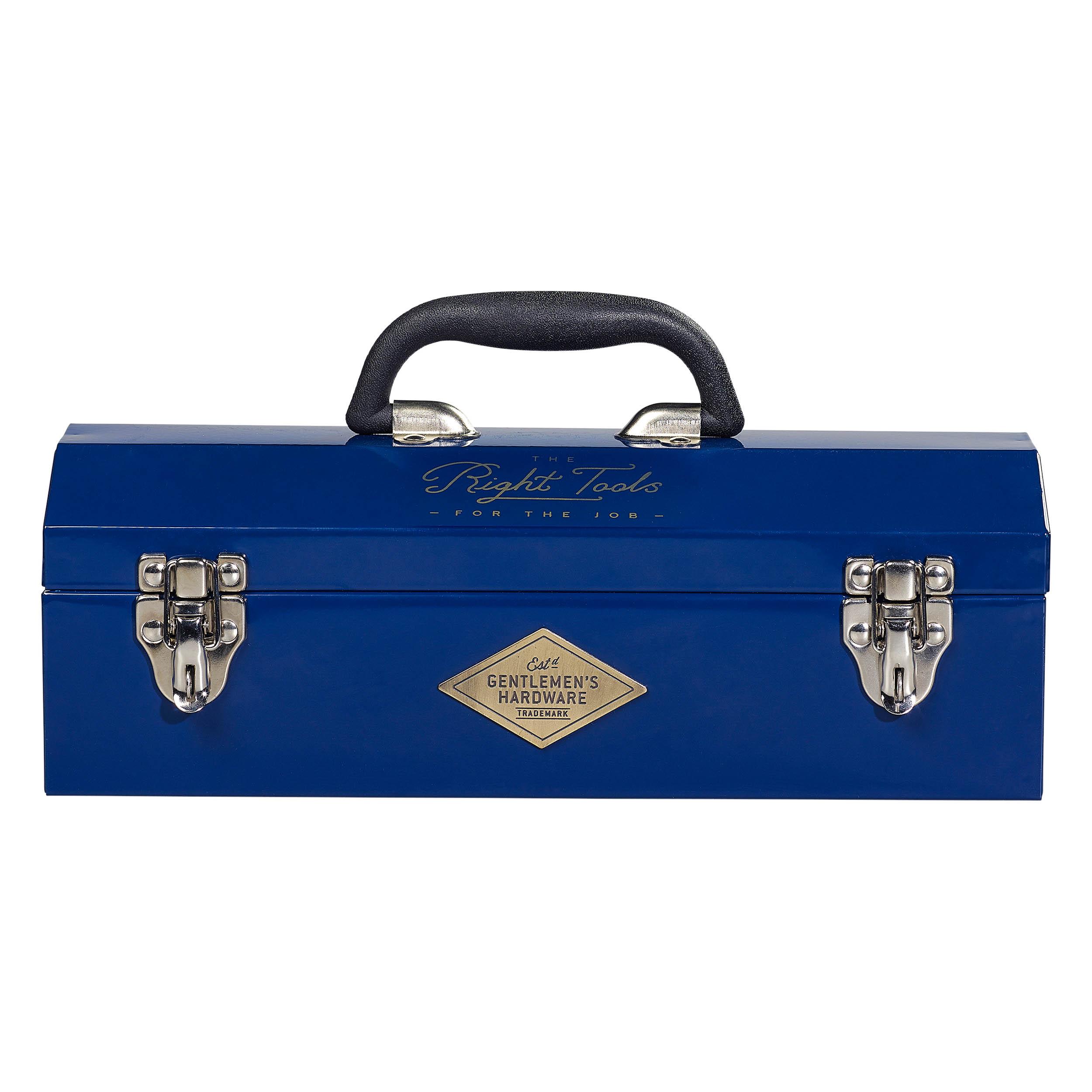 retro werkzeugkiste metall gentlemen 39 s hardware blau. Black Bedroom Furniture Sets. Home Design Ideas