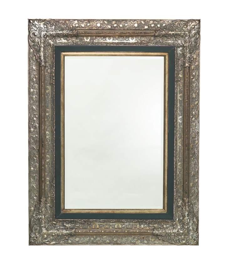 spiegel barock mit facettenschliff 101x131 cm wohnaccessoires spiegel vintagehaus. Black Bedroom Furniture Sets. Home Design Ideas