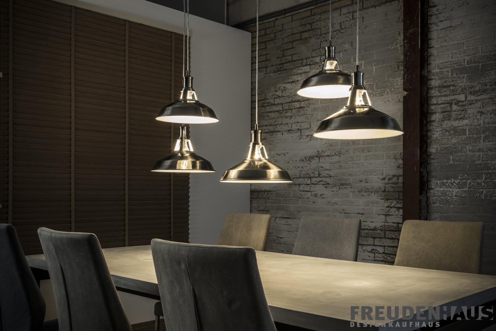 h ngelampe multi shade cinque industrial 5 schirme. Black Bedroom Furniture Sets. Home Design Ideas