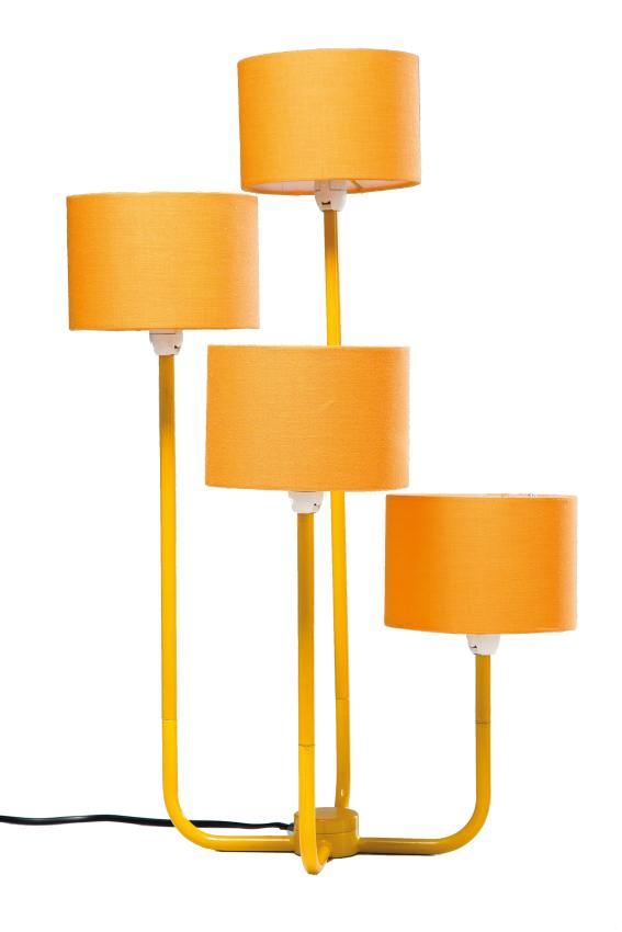 kare tischlampe foursome yellow wohnaccessoires tischlampen vintagehaus. Black Bedroom Furniture Sets. Home Design Ideas