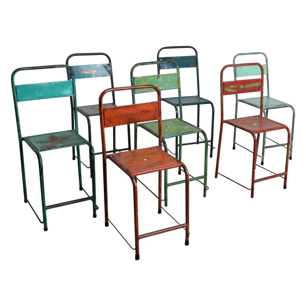 vintage stuhl easy stapelbar metall in verschiedenen farben m bel st hle vintagehaus. Black Bedroom Furniture Sets. Home Design Ideas