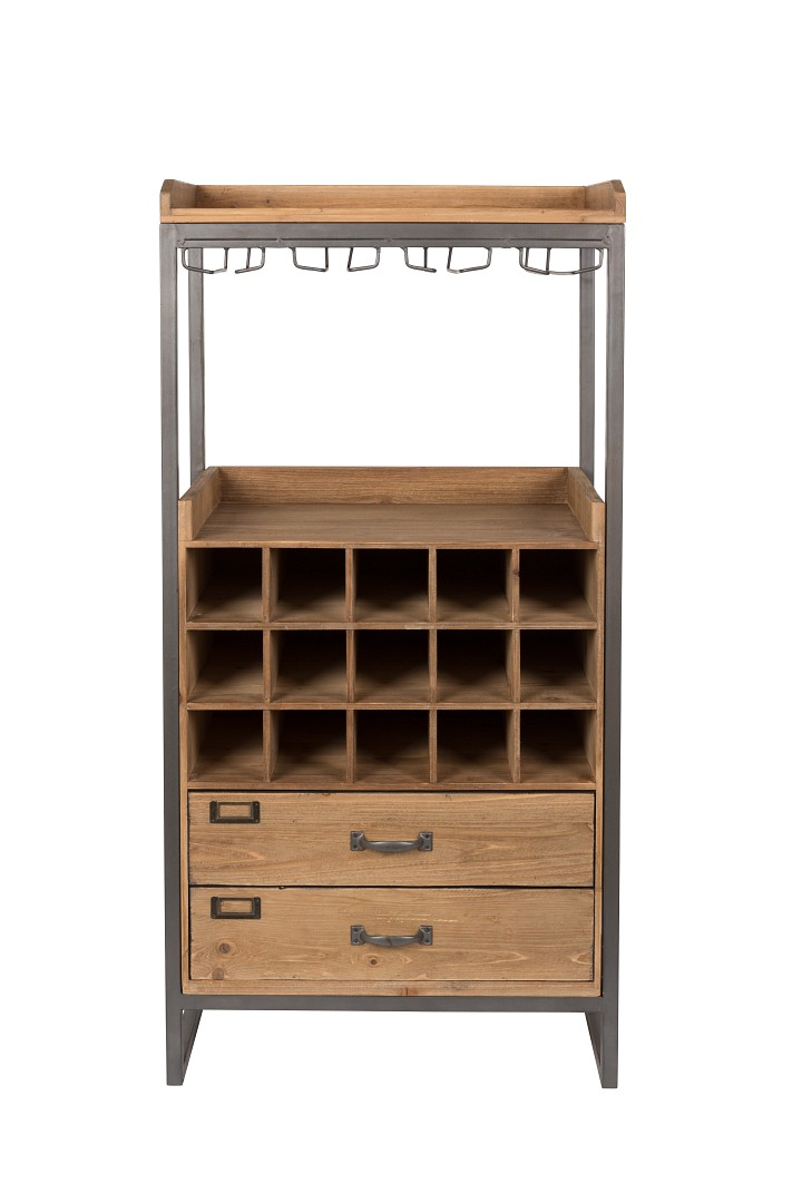 weinregal barschrank vintage industrial edgar m bel sideboards vintagehaus. Black Bedroom Furniture Sets. Home Design Ideas