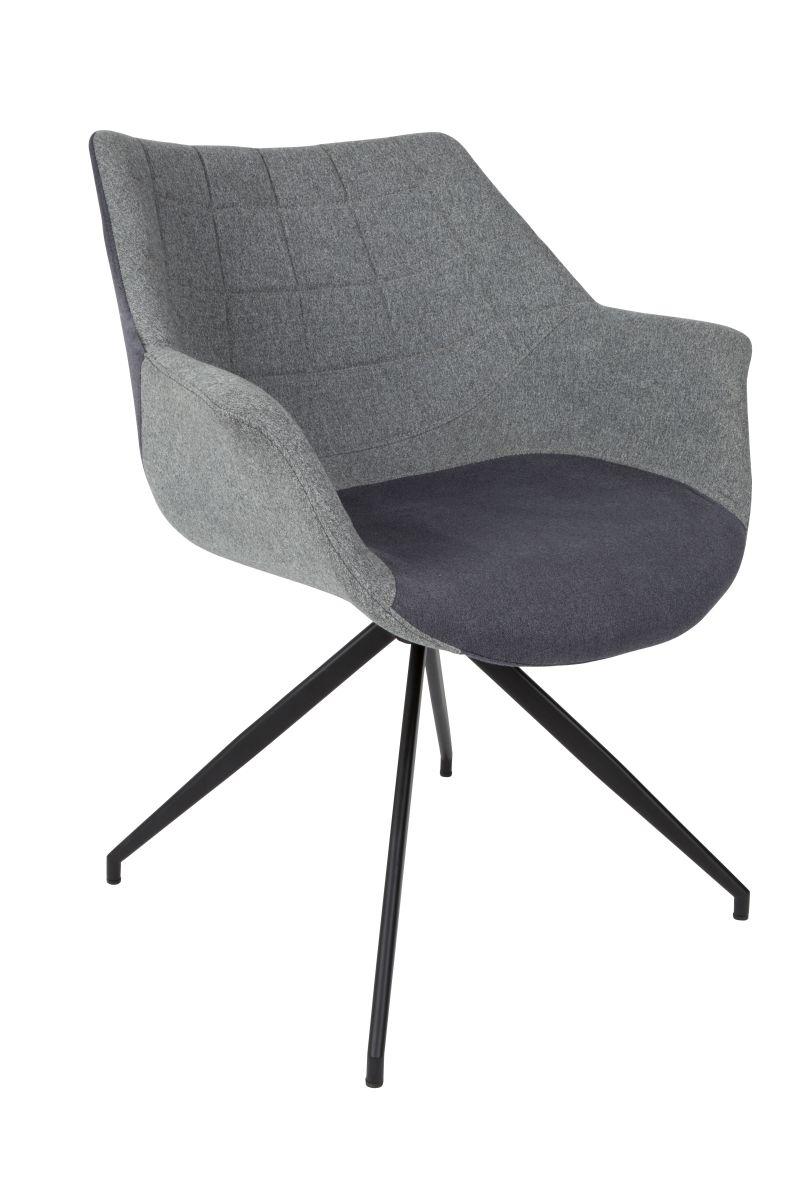 Zuiver schalenstuhl retro armlehne doulton grau m bel for Schalenstuhl design