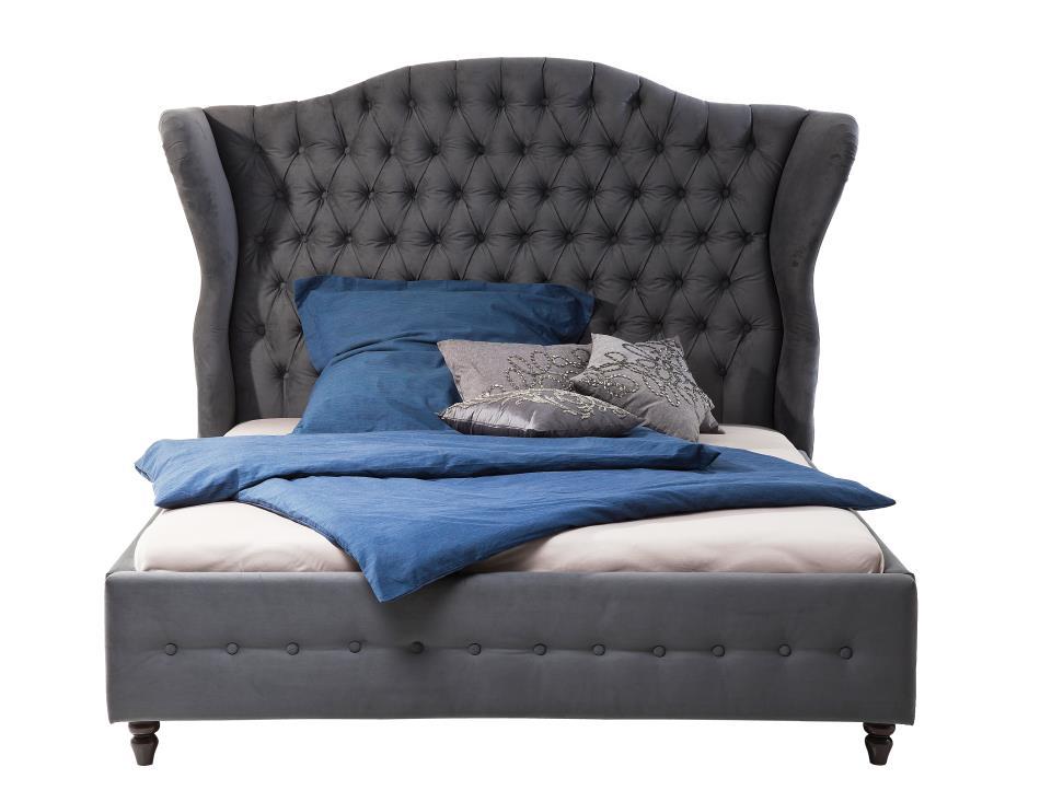 bett spirit barock rokoko dunkelgrau 180 x 200 m bel betten vintagehaus. Black Bedroom Furniture Sets. Home Design Ideas